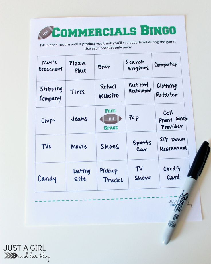 3 Awesome Super Bowl Party Games by Just a Girl and Her Blog