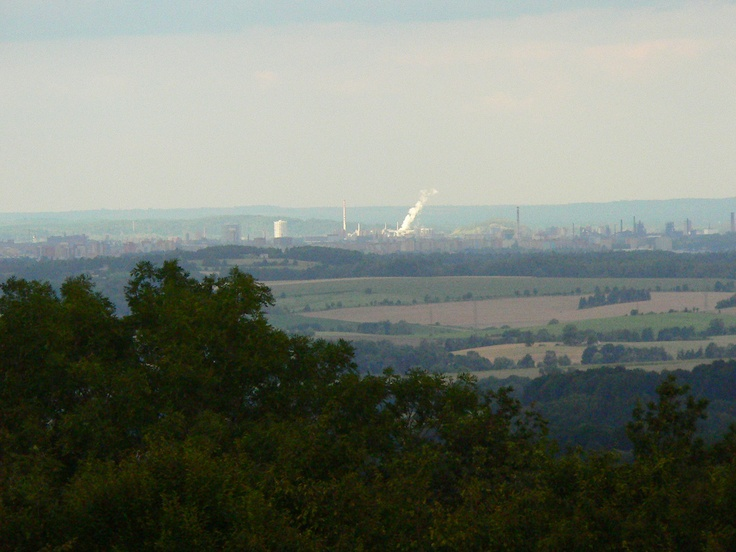 Ostrava in the distance