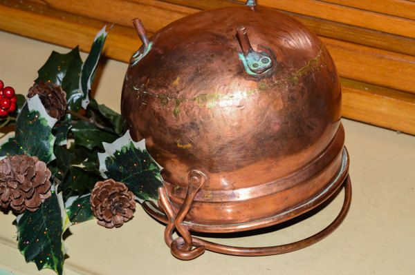 Vintage Footed Copper Pot, Rustic Kettle with Handle, 1950s, Handmade, Copper Cauldron, Hammered Planter, Plant Pot, Country Kitchen Decor by PrettyNiceVintage on Etsy