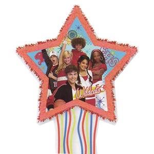 "High School Musical Pull Pinata (Friends 4 Ever). High School Musical: Friends 4 Ever - Shaped Pull Pinata. 18 1/3"" x 17 1/2"""