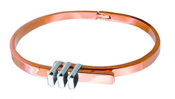 Tianguis Jackson Copper and Silver Belt Buckle Bangle
