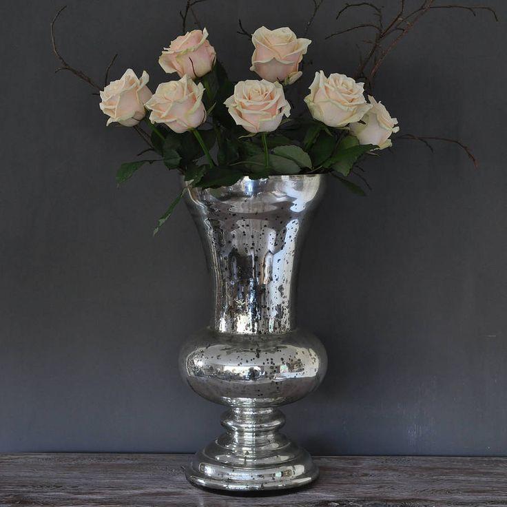 Large Antique Silver Urn Vase By Primrose Amp Plum