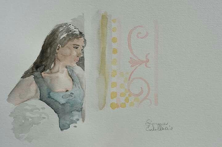 Watercolor   #illustration #illustrationoftheday #artoftheday #art #watercolor #sketch #pensil #acquerelli #photooftheday #photo #girl #girldrawing #anatomy #anatomysketch