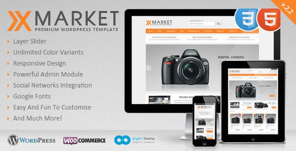 XMarket is clear, easy to customize WordPress template. Many new features such as powerful admin module, slideshow, new products display on homepage,