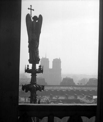 Notre Dame de Paris vue de la Sainte Chapelle, © 1949, Lucien Hervé