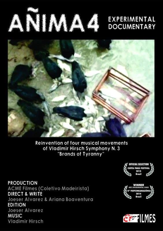 """Añima4"" by Joeser Ariana Alvarez and Boaventura with music by Vladimír Hirsch from Symphony Ńo.3 ""Brands Of Tyranny"", the winner of the first edition of Festival de video libre 2016, Madrid, Spain as ""Best Non-Fiction Short Film"", also the winner of 12th Festcinemazónia 2014, Brazil"", 2014 as ""The best experimental video"". #video #award #music #czechia #spain #brazil"