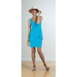 Sophie, Reversible 2-Layer Dress, jewel blue, XL : P'LOVERS