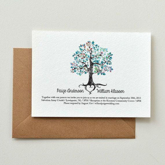 Wedding Invitation  Rustic Woodland Tree  by AmyAdamsPrintables