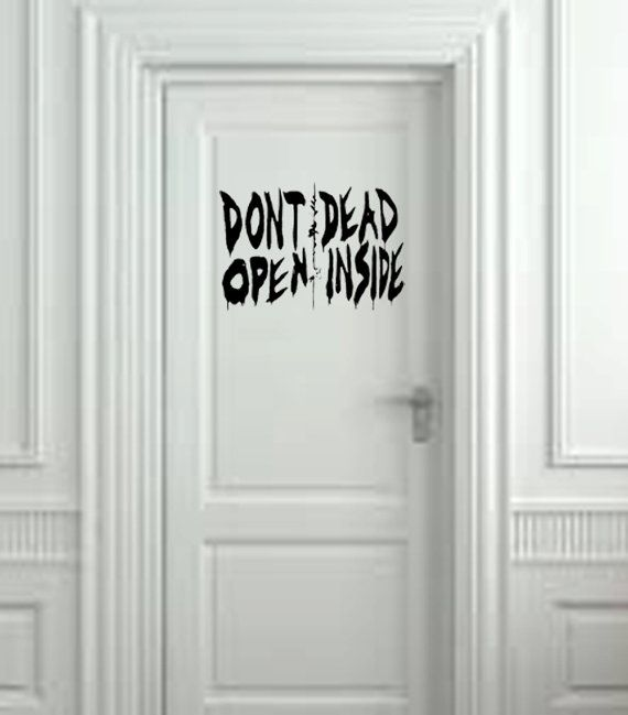 This wall decal is straight from the zombie series The Walking Dead and stands 20wide and 10 high. It is perfect as a halloween decoration or the