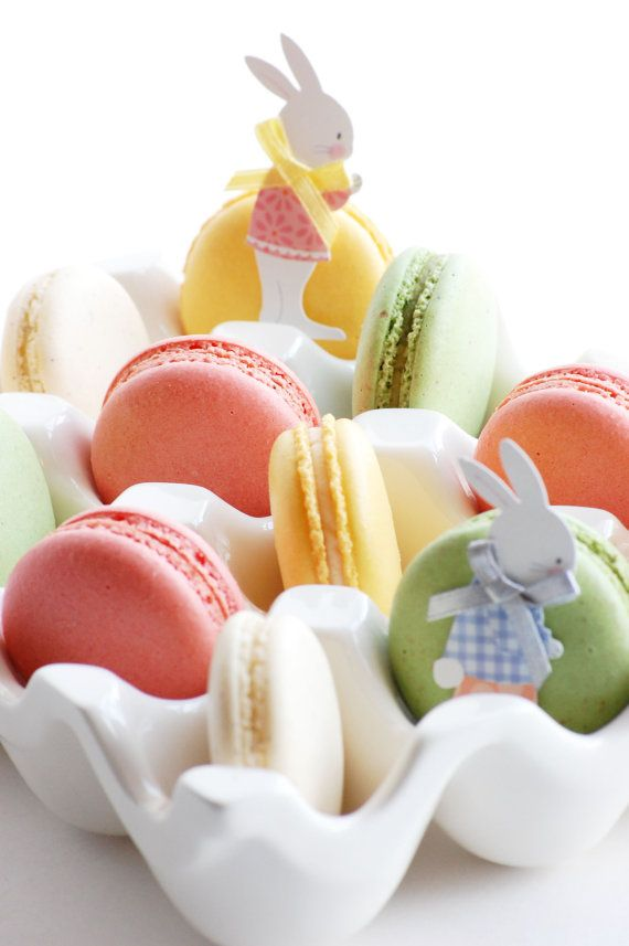 Easter Macaroons (Six or Twelve Pieces) Great serving idea!