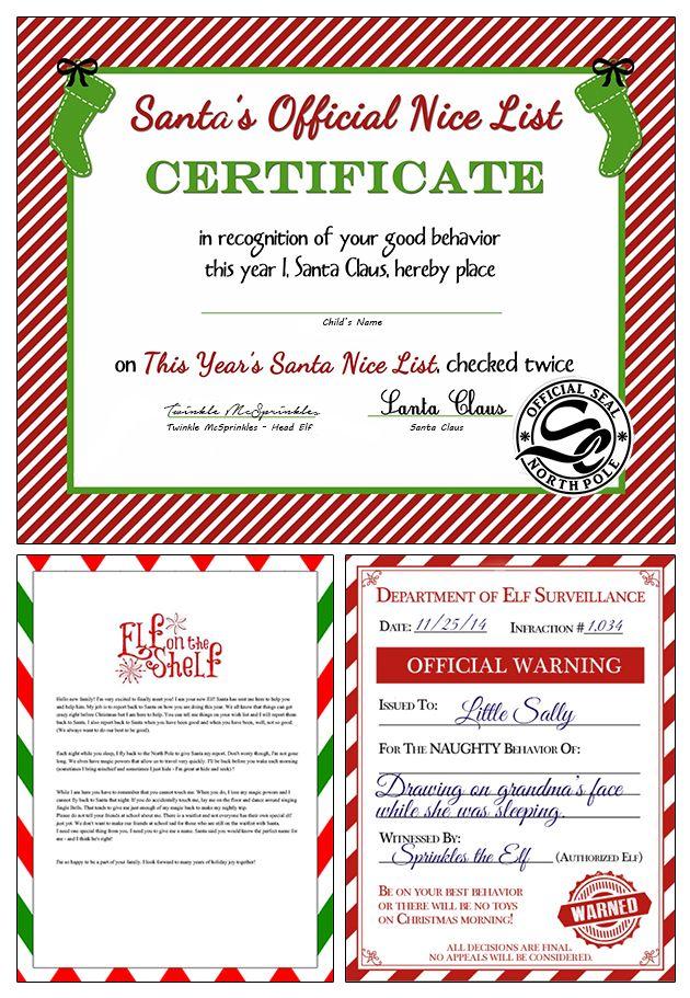 FREE Elf on the Shelf Printables for Christmas!