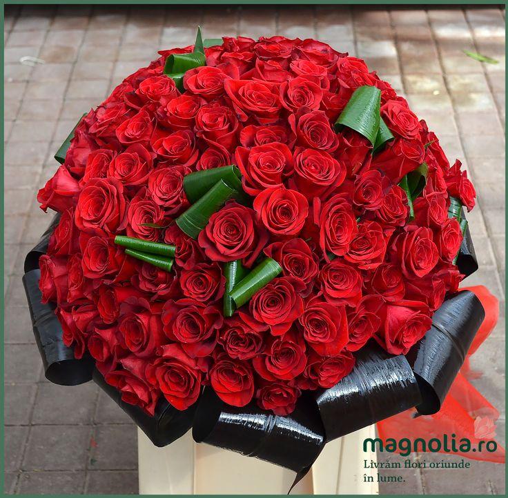 101 red roses. Buchet cu 101 trandafiri rosii