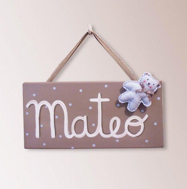 Cuadro infantil con nombre