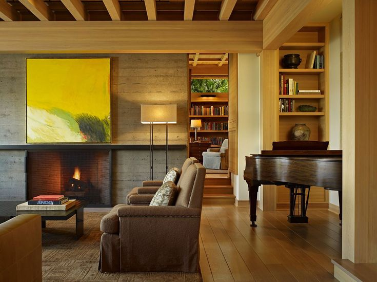 Living Room Piano Engawa House Seattle By Sullivan Conard Architects Home Inspiration