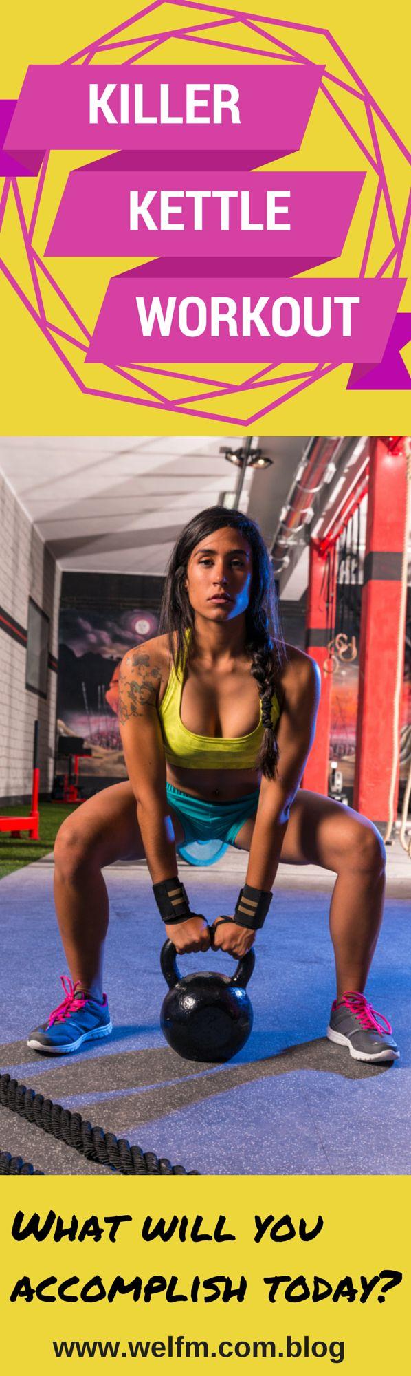 A full body kettlebell workout.  ~ www.welfm.com/blog