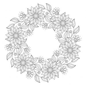 advanced flower coloring pages 9