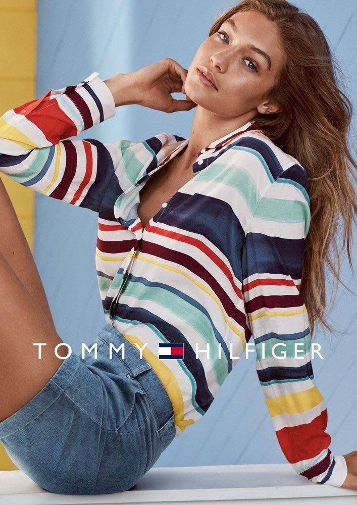 Gigi Hadid for TOMMYxGIGI SS17.