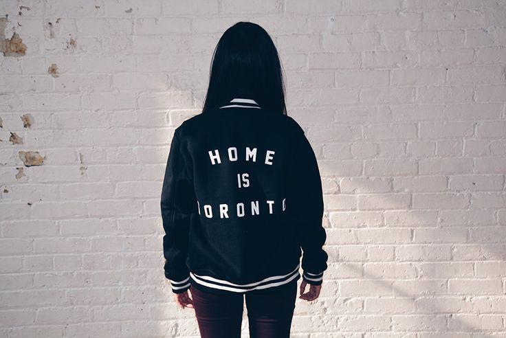 Home is Toronto Letterman Jacket - Black