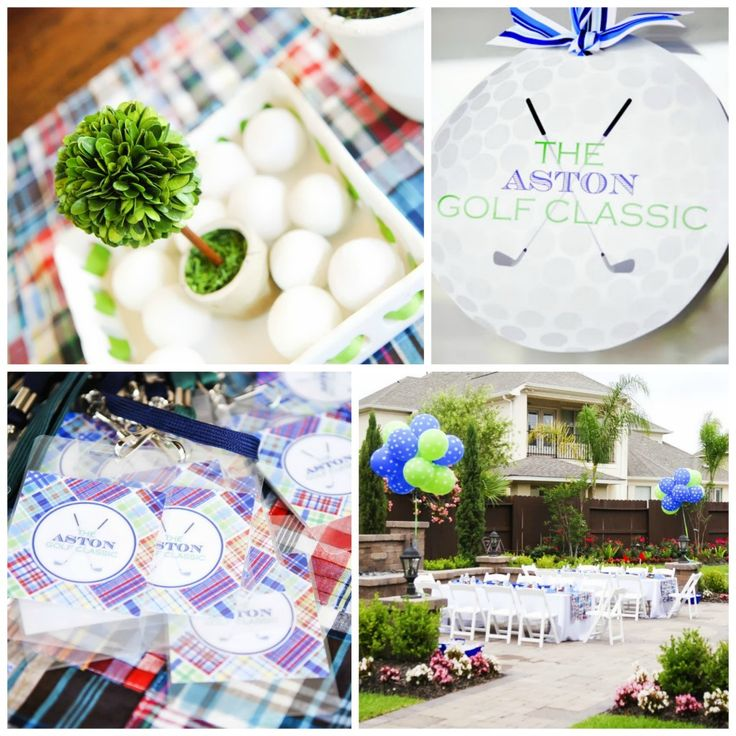 Golf Classic-themed party by Swanky Chic Fete (Fall Sports Party Round Up by Paige Simple Studio | paigesimple.com) #birthdayparty #golfclassictheme #plaid