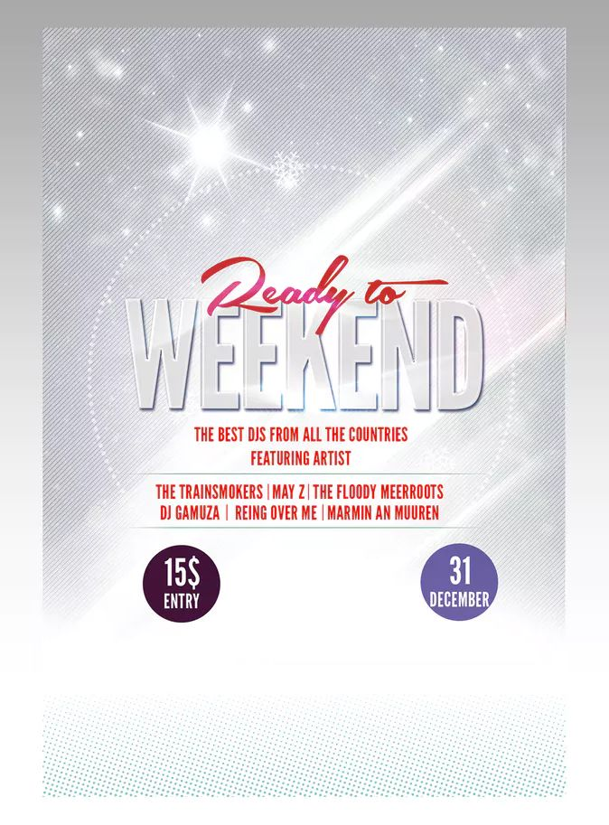 ready to weekend flyer poster template psd download flyer