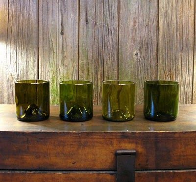 48 best images about upcycled crafts on pinterest for Make glasses out of bottles