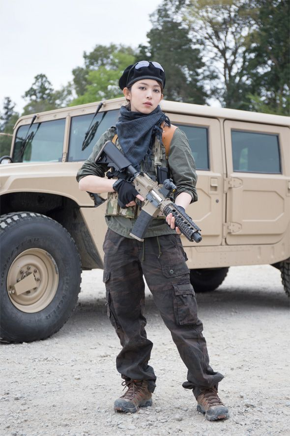 Opinion Japanese girls with airsoft guns shooting once and