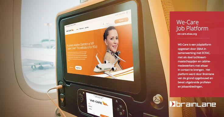 Voor de European Business Aviation Association (EBAA) werd een jobplatform ontwikkeld waarop organisatoren van zakenreizen niet enkel gericht kunnen zoeken naar specifiek cabinepersoneel (stewardessen en stewards), maar waarop ze zelf ook vacatures kunnen plaatsen. Het cabinepersoneel daarentegen kan zijn of haar CV online onderhouden en ontvangt nieuwe opdrachten automatisch via SMS: www.we-care.ebaa.org