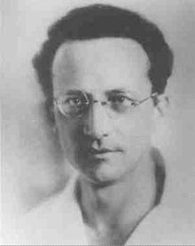 Erwin Schrödinger - Quantum Theorist, Nobel Prize Winner, 'Schrodinger's Cat' an esoteric thought experiment illustrating how quantum physics works when applied to everyday objects