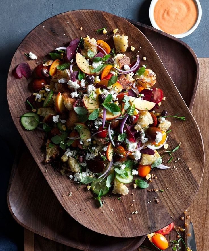 Summer Panzanella | Essentially a bread salad with lots of fresh produce, panzanella is the perfect summer dish. Let the farmers' market dictate what you include.
