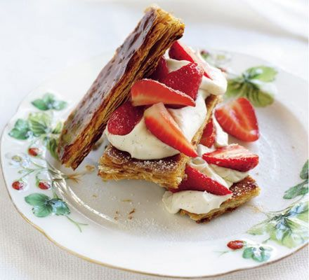 Strawberries & cream layer: Turn strawberries and cream into a pudding to remember with the simple addition of puff pastry sheets