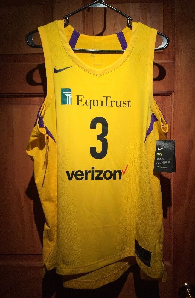 7fa9cf42e Candace Parker Los Angeles Sparks Authentic Nike Aeroswift Jersey Size 50  XL NEW (eBay Link)