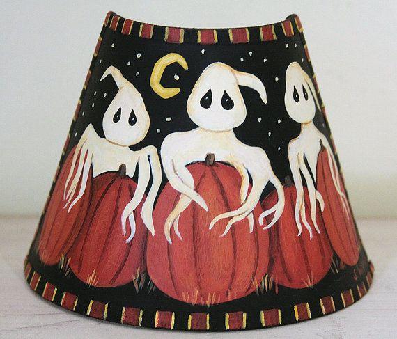 halloween decoration folk art hand painted by ravensbendfolkart