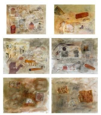 Artist:  ARYAMA PAL Title:  CULTIVATION OF WAR Medium:  MIXED MEDIA ON PAPER Size:  88X98 Exhibition:  50th Annual Exhibition, 2017 Price:  MIXED MEDIA ON PAPER