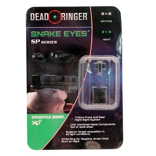 Dead Ringer Replacement Tritium Night Sight Springfield: XDS .45 ACP or 9mm