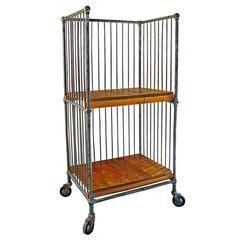 steel furniture images. vintage industrial wood and metal steel bindery printeru0027s shelf rolling cart furniture images
