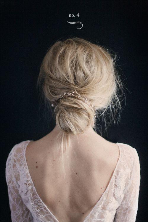 Beach Wedding Hair: Low Bun
