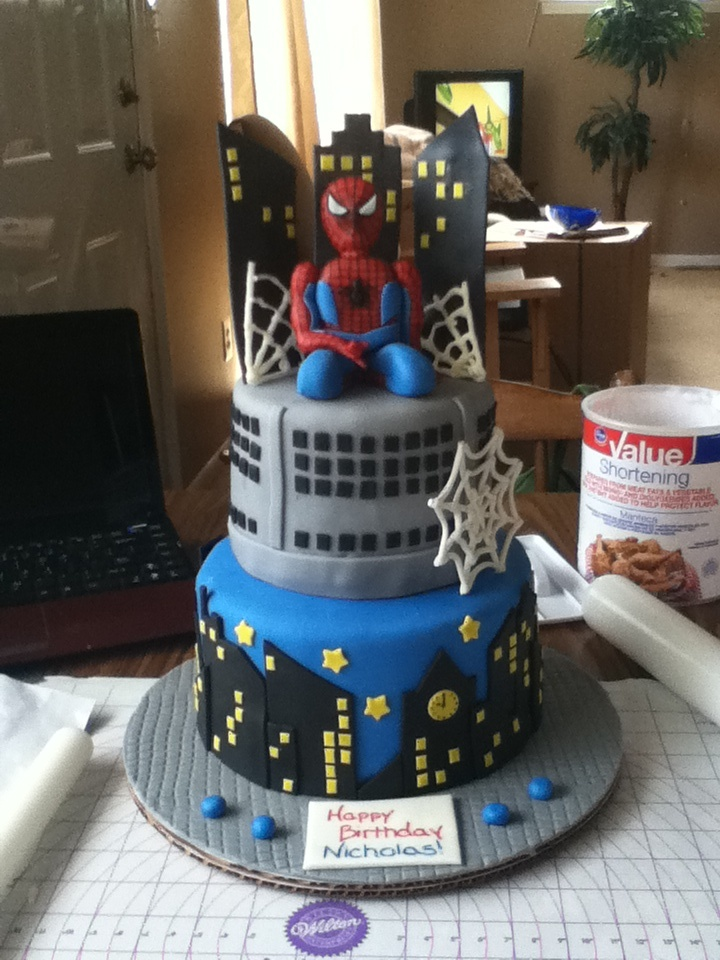 90 Best Images About Spiderman Themed Cakes On Pinterest