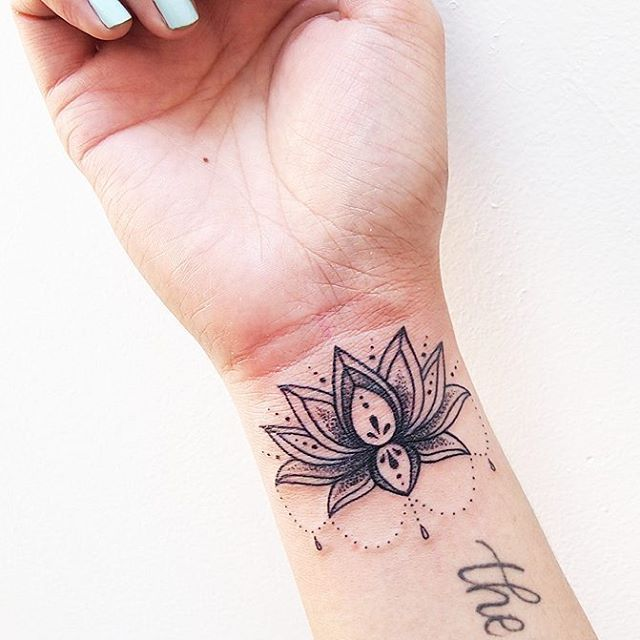 A little wrist lotus for Tanya! So fun, thank you! #tattoo #tattoos #tattoosofinstagram #inkstagram #tattoopeopletoronto #tattoopeople #lotustattoo #mandalatattoo #wristtattoo #girlytattoo #torontotattoo #torontotattooartist