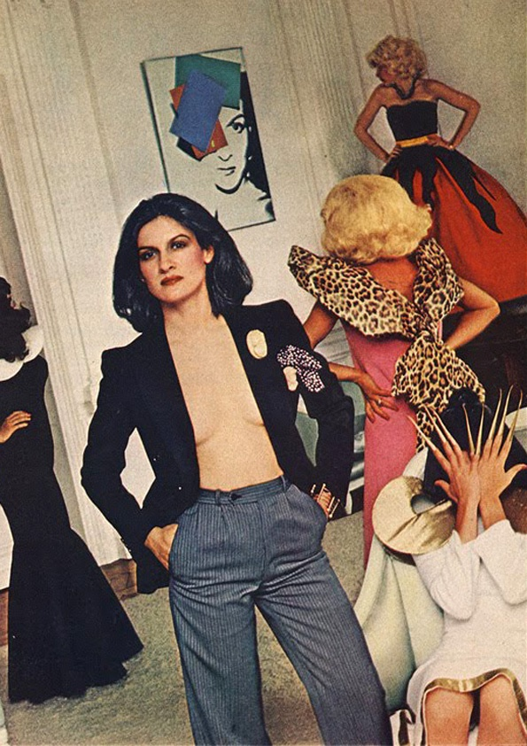 Paloma Picasso photographed by Helmut Newton for American Vogue, December 1978.