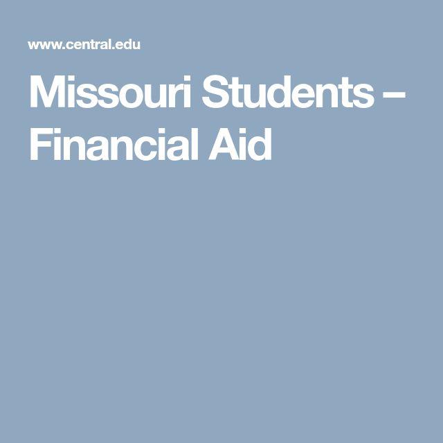 Missouri Students U2013 Financial Aid