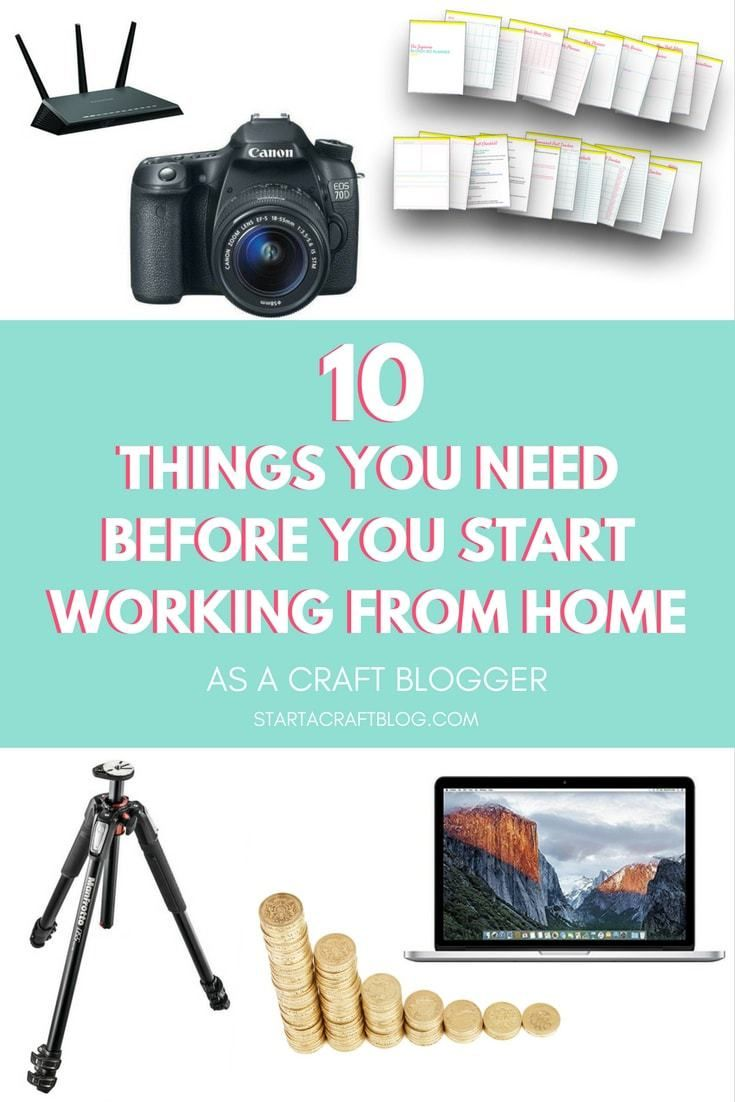 Do you want to work from home? If you are searching for work from home jobs that you want to do full time, there are 10 things that are fairly essential before you start. Especially if you want to work as a pro craft blogger. It is entirely possible to make money online as a full time craft blogger. Check out the post outlining the 10 things you need before you start! Don't forget to download your free printable blog planner