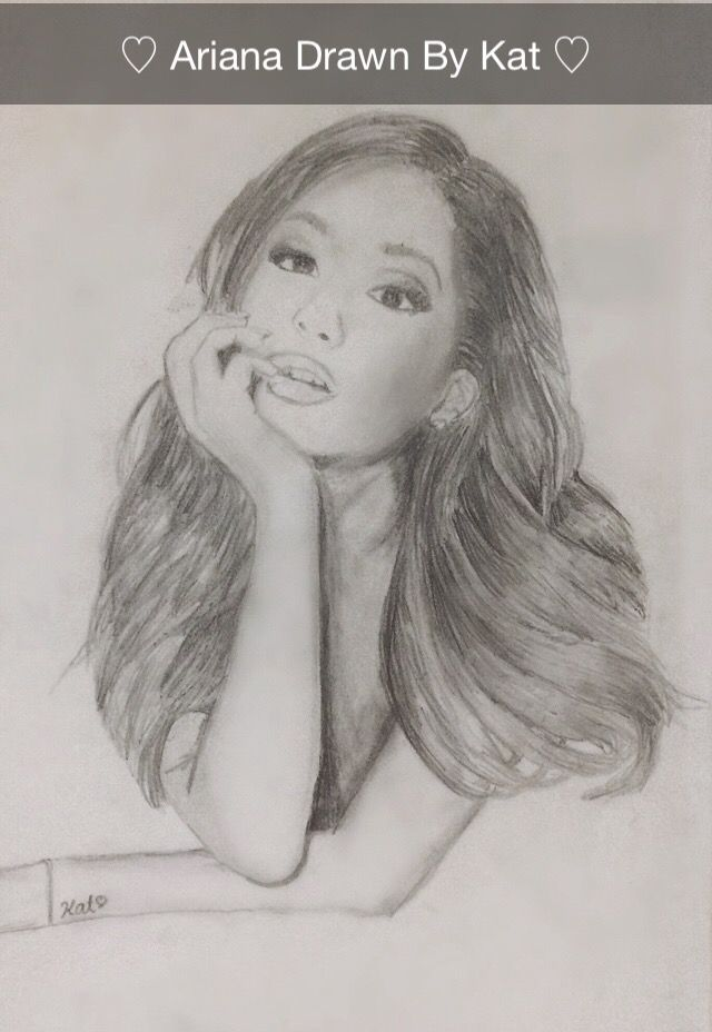 I drew this picture of Ariana Grande! I hope y'all like it and let me know if you want more! xxx #arianagrande #art #drawings #arianagrandedrawings #ariana #ari