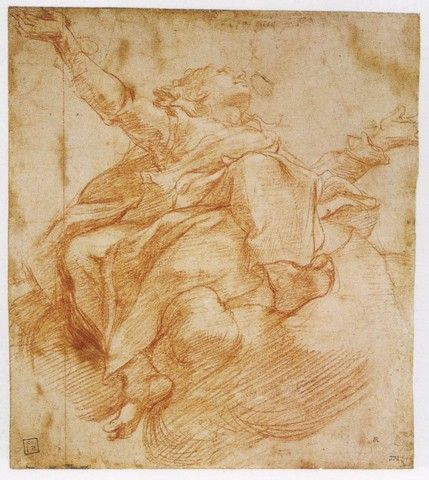 221. (Correggio) The Assumption of the Virgin, study for the Cathedral of Parma [1526]