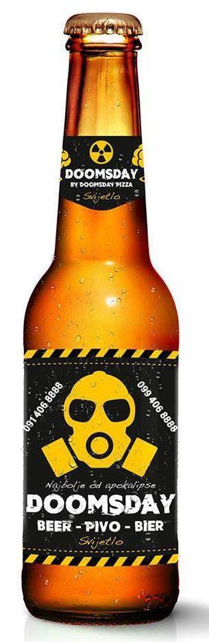 DOOMSDAY PIVO - BEER  0,33 l  Made in Croatia - RARE beer label