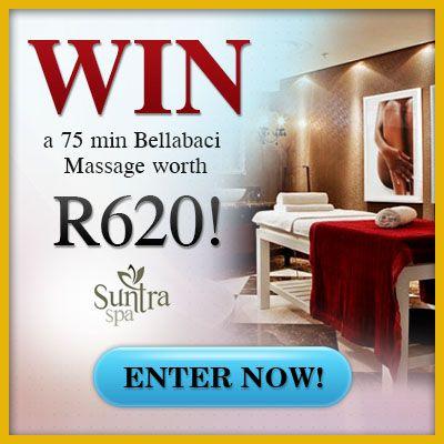WIN a 75min Bellabaci Massage from Suntra Spa worth R620!