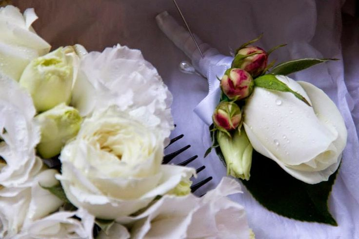 """Naomi Rose Floral Design: Preview """"Amy & Michael 11th January 2015"""" white rose button hole for male bridesmaid"""
