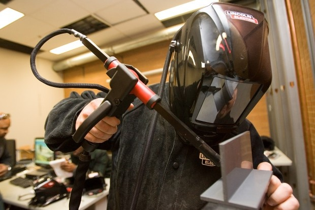 Virtual Welding Machine - Ivy Tech is using virtual welding to fue students with jobs!