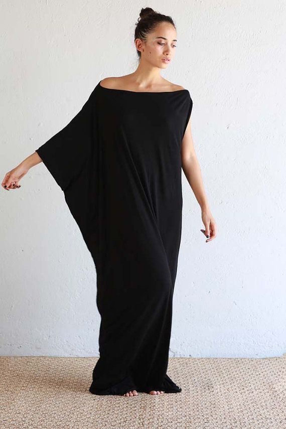 975b09e08f09 Black Kaftan Dress - Beach Kaftan - Maxi Dress - Boho Dress - Black Long  Dress - Black Caftan - Caftan