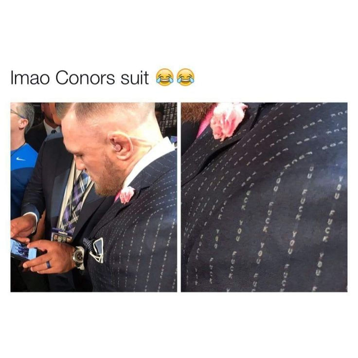 Conor MacGregor's suit is everything.