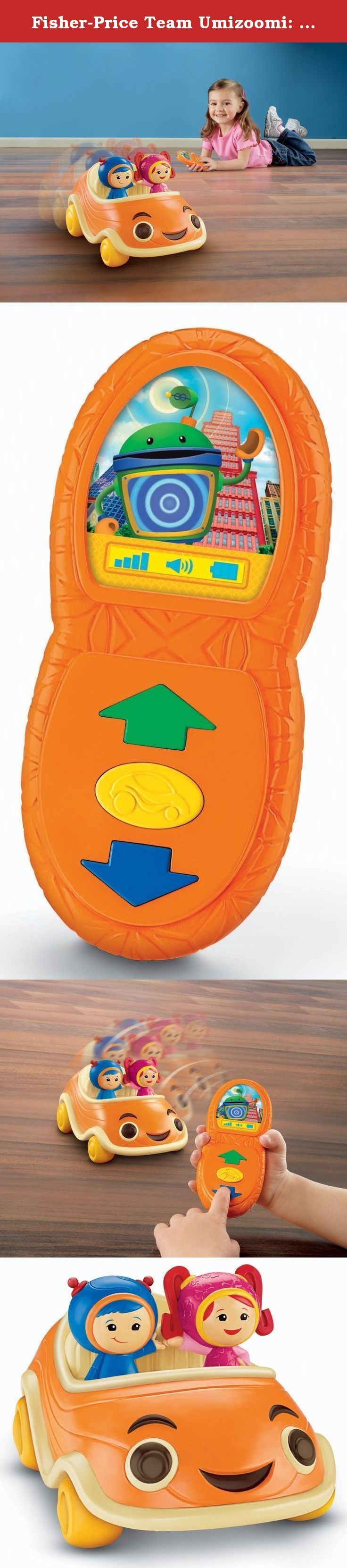 Fisher-Price Team Umizoomi: Come and Get Us Counting UmiCar. Introducing the Team Umizoomi Come & Get Us Counting Car, new for Fall 2012! Includes motorized Umicar with Milli and Geo, and an easy-to-use Umi Phone remote control with 3 buttons. Press the center button to call the Umi Car and it magically drives to straight to you, just like on the show! Press the forward arrow button and the Umicar moves and counts forwards. Press the reverse button and the Umicar spins backwards and…